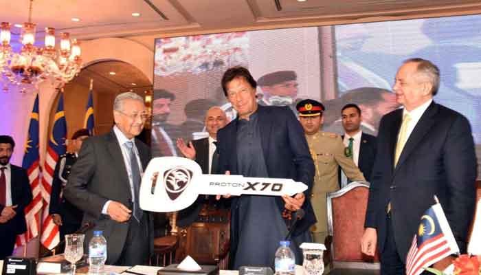 Malaysian Prime Minister gifts PM Imran Khan a brand new car Proton X70