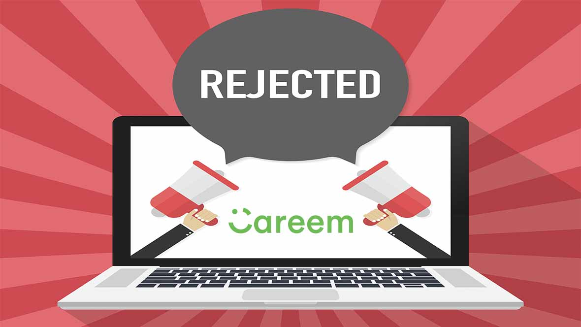 Best job rejection email response sent by Careem